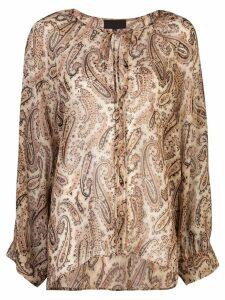 Nili Lotan paisley print blouse - Brown