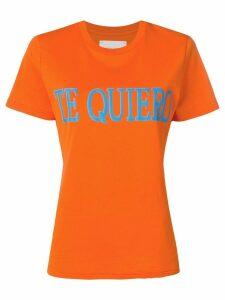 Alberta Ferretti Te Quiero T-shirt - Orange