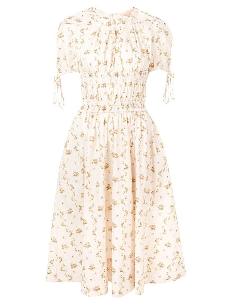 Brock Collection floral print midi dress - Neutrals