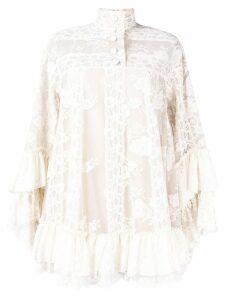 Gucci lace shift dress - Neutrals