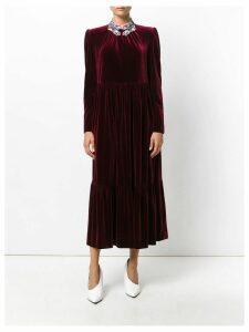 Vivetta pleated evening dress - Red