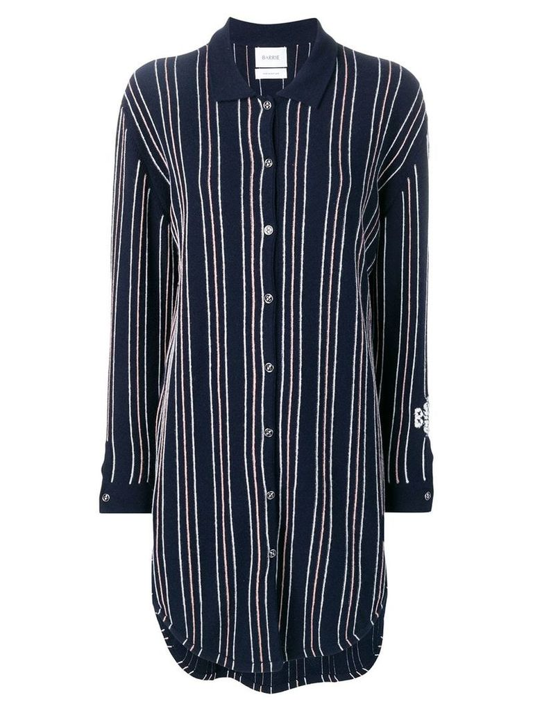 Barrie stripe knitted shirt dress - Blue