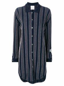 Barrie stripe knitted shirt dress - Blue
