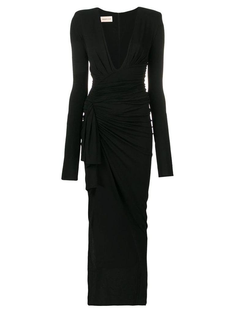 Alexandre Vauthier deep V-neck dress - Black