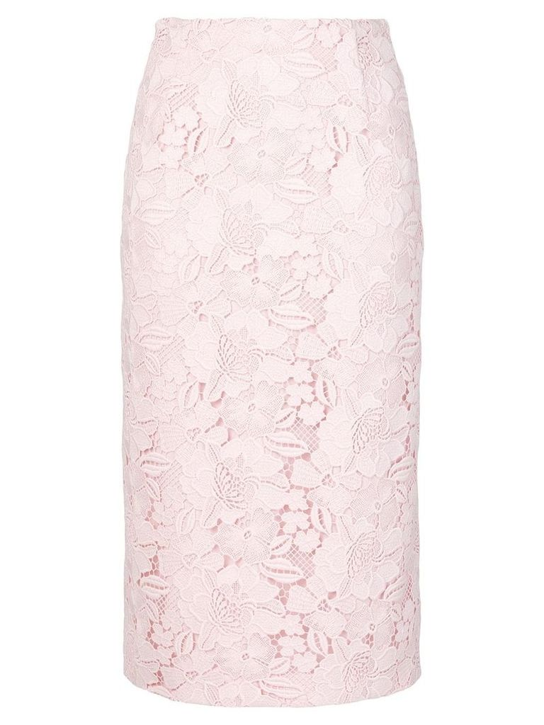 No21 lace embroidered skirt - Pink