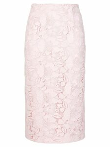Nº21 lace embroidered skirt - Pink