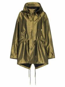 Marques'Almeida metallic detachable hood raincoat - Gold