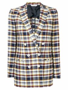 Tonello checked double breasted blazer - Blue