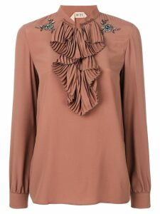 Nº21 ruffle bib blouse - Pink