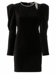 Isabel Marant Ziane diamanté detail mini dress - Black