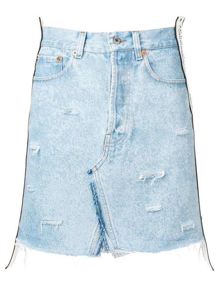 Forte Dei Marmi Couture distressed denim skirt - Blue