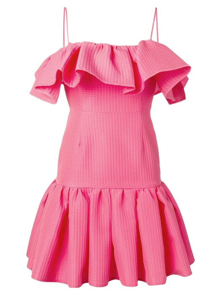 MSGM ruffled sleeveless dress - Pink