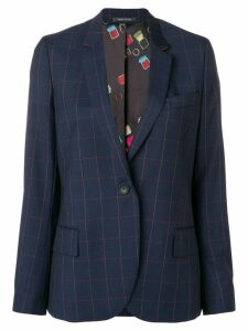PS Paul Smith large check blazer - Blue