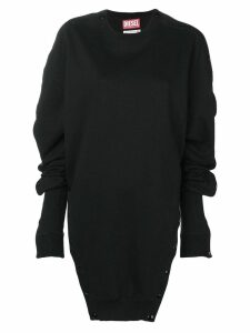Diesel Red Tag oversized buttoned sweatshirt - Black