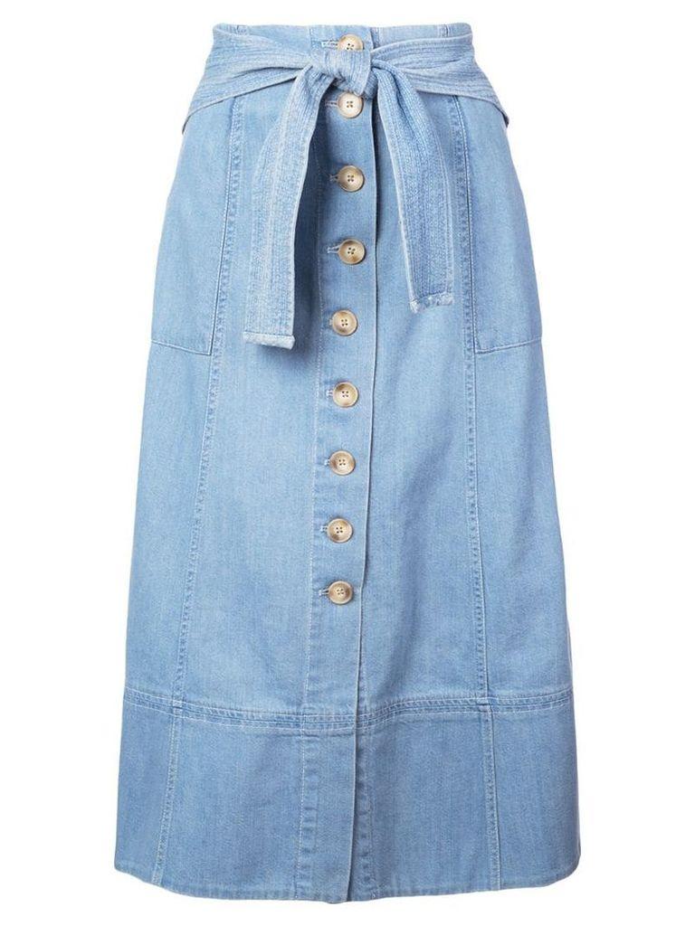 Sea Dakota belted midi skirt - Blue