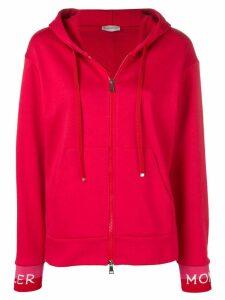 Moncler logo hoodie - Red