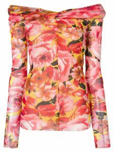 MSGM floral print top - Pink
