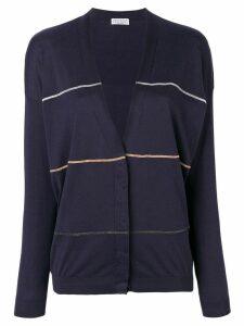 Brunello Cucinelli striped knitted cardigan - Blue