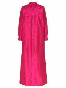 Marques'Almeida silk shirt dress - Pink
