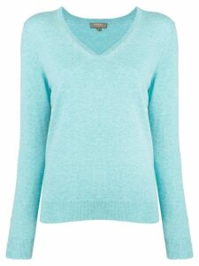 N.Peal v-neck jumper - Blue