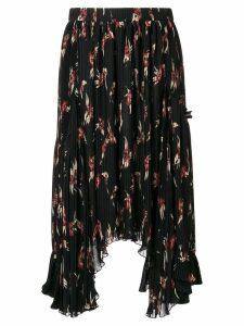 Isabel Marant floral print pleated midi skirt - Black