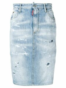 Dsquared2 distressed denim skirt - Blue