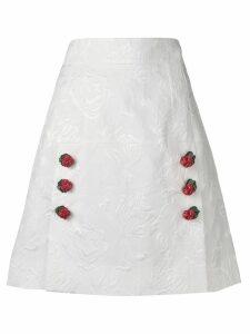 Dolce & Gabbana jacquard skirt - White