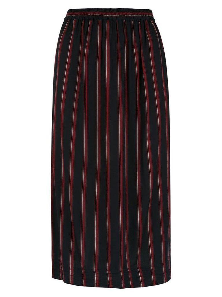 Reinaldo Lourenço striped straight skirt - Black