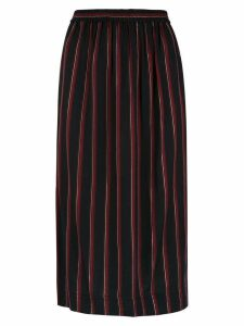 Reinaldo Lourenço striped straight skirt - Black