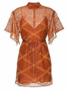 Manning Cartell lace layer dress - Brown