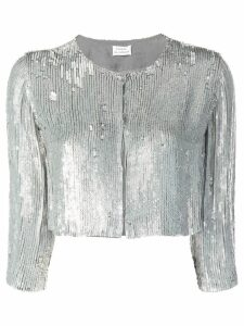 P.A.R.O.S.H. sequin cropped jacket - Silver