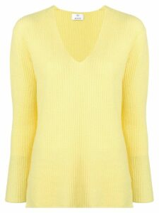 Allude V-neck sweater - Yellow