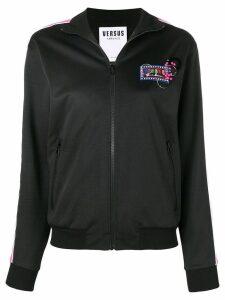 Versus logo bomber jacket - Black