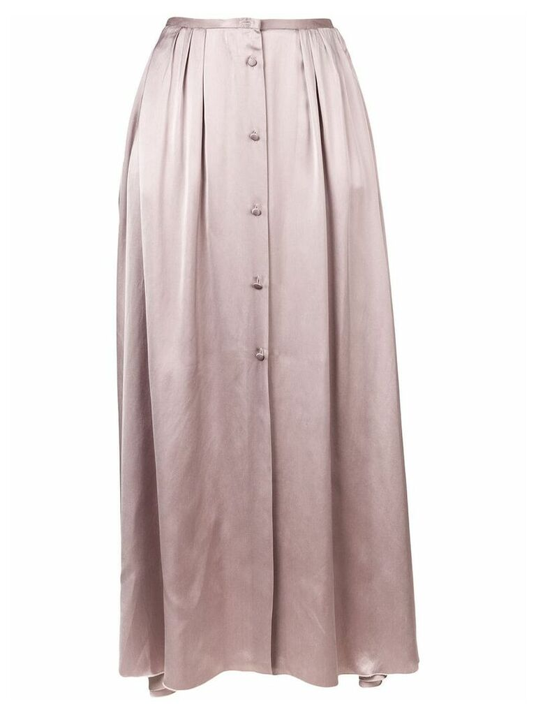 Forte Forte front button maxi skirt - Purple