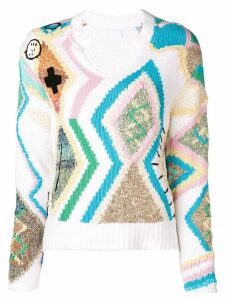 Zadig & Voltaire intarsia knit jumper - White