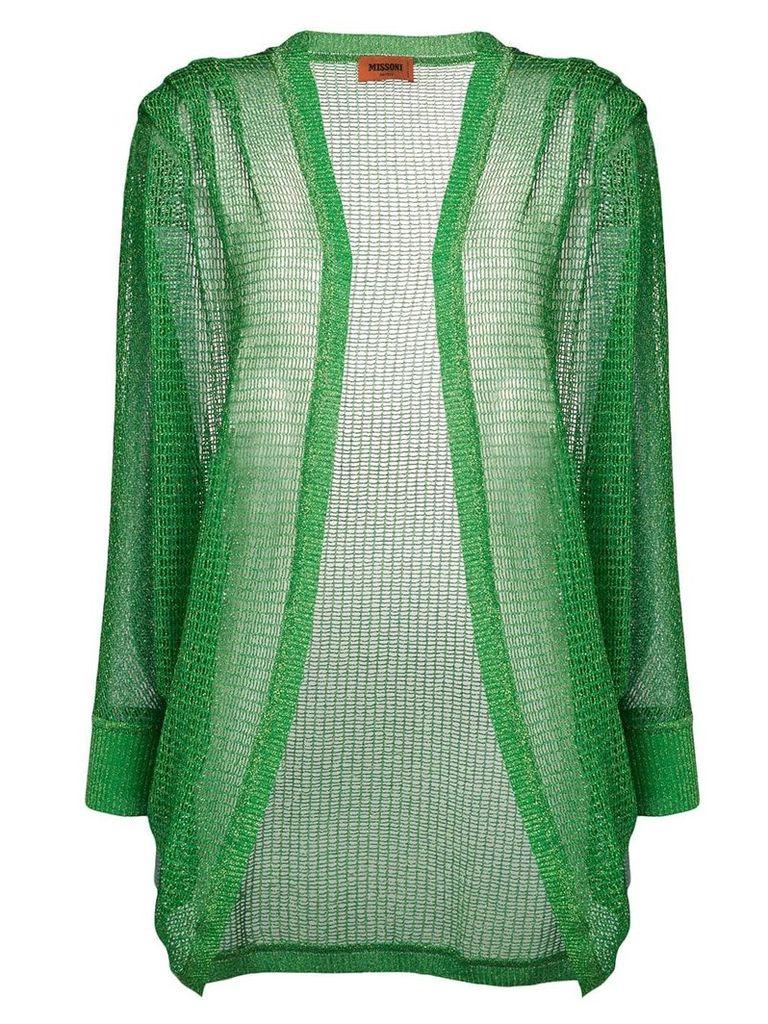 Missoni sheer embroidered caridgan - Green