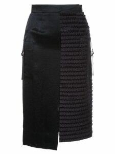 Loveless contrast pencil skirt - Blue