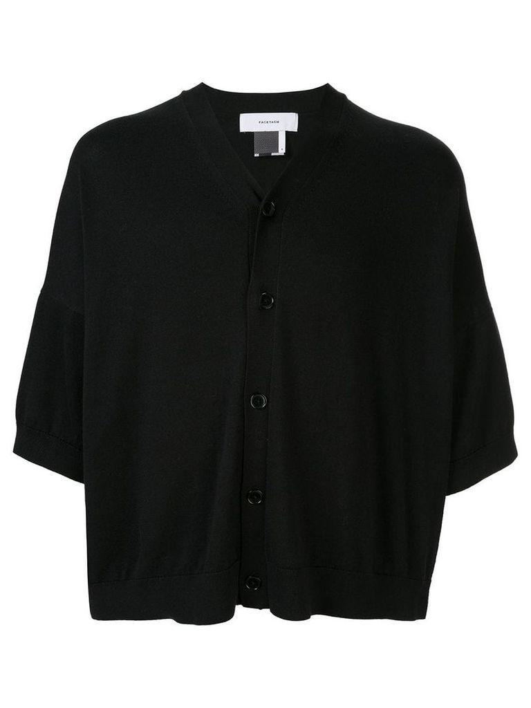 Facetasm cropped loose cardigan - Black