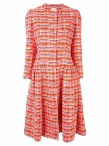 Delpozo tweed styled dress - Red