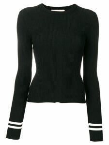 Ssheena long sleeve ribbed jumper - Black