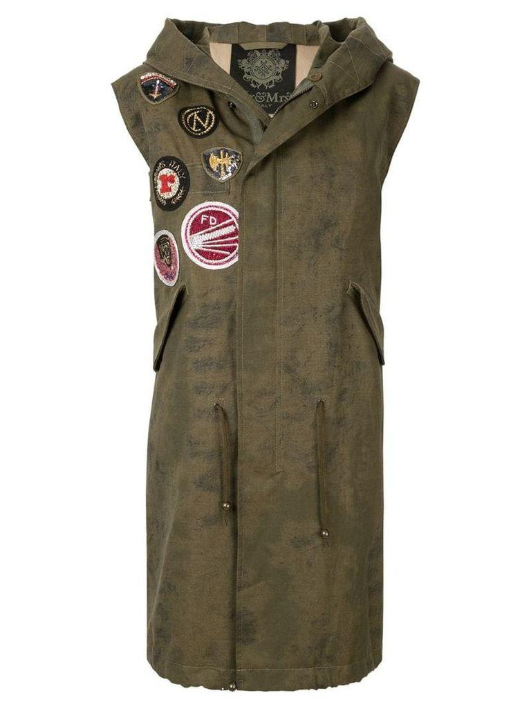Mr & Mrs Italy patchwork waistcoat - Green