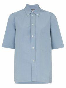 Plan C Short sleeved button down shirt - Blue