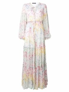 Wandering long floral dress - White