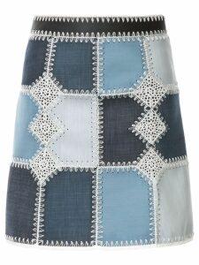 Loveless colour-block mini skirt - Blue