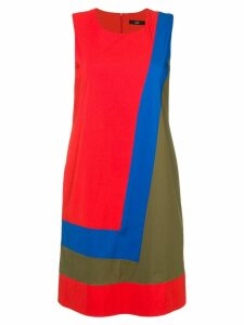Steffen Schraut colour block dress - Red