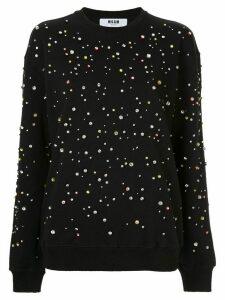 MSGM embellished sweatshirt - Black