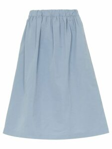 Plan C A-Line Midi Skirt - Blue