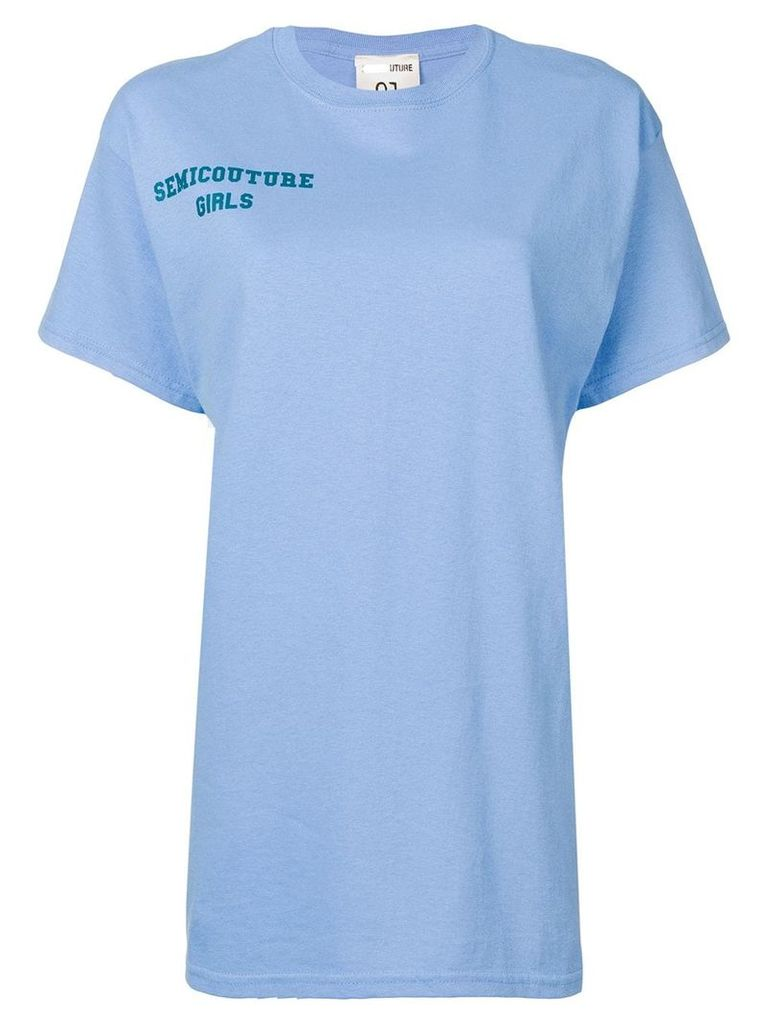 Semicouture 'Cristina' T-shirt - Blue