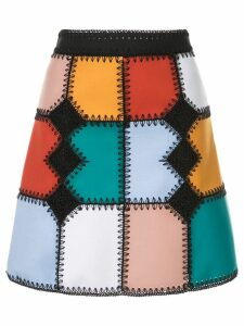 Loveless colour-block flared skirt - Multicolour