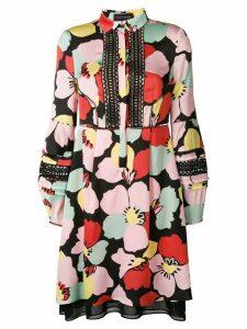 Talbot Runhof floral print shirt dress - Pink